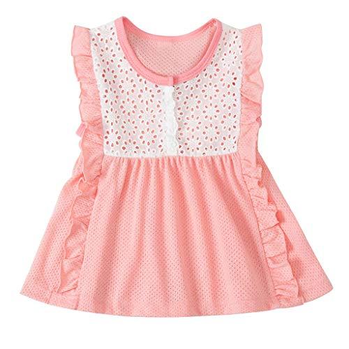 (YanHoo Baby Kinder Mädchen Kleinkind Patchwork Tüll Spitze Party Prinzessin Kleider Baby Mädchen Kleid Baby Kind Rock Prinzessin Kleid 0-3 Jahre alt)