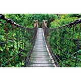Ponte sospeso giungla - XXL quadro murale giungla ponte 210 cm x 140 cm