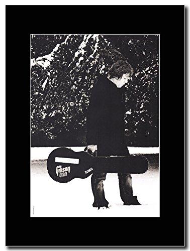Gary Moore _nella neve Magazine Promo su un supporto, colore: nero