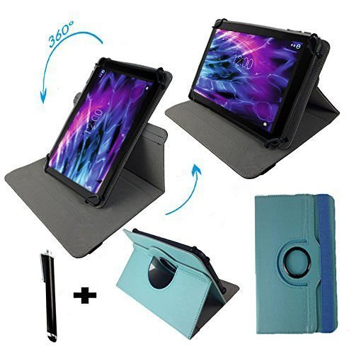 MEDION® LIFETAB® P8312 (MD 99334) - 8 Zoll Drehbare Tablet Schutztasche mit Standfunktion + Touch Pen – Türkis 8 Zoll 360