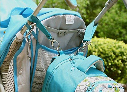 Multifunktionale Großraum-Mama-Tasche, Schultern aus dem Paket, Mutter-Paket, Mode Mutter Tasche, Mutter Baby-Tasche ( Farbe : Schwarz ) Blau