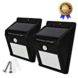 Solar Lights 20 LED,Super Bright Motion Sensor Security Wall Light Weatherproof Wireless Spotlight for Outdoor Lamp with 3 Intelligent Modes for Garden, Garage, Fence, Patio,Path, Yard, Walkway, Driveway, Stairs, Outside Wall by LEBANDWIT(Pack of 2)