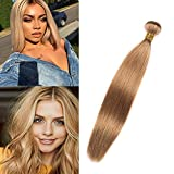 Dai Weier Meche Bresiliennes Honey Blonde 27 Silky Shine Tissage Straight 100% Remy Cheveux Humaines Weft Extensions 20 Pouces