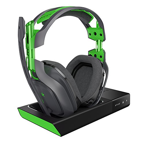 ASTRO Gaming A50 Headset (kabellos) + Basisstation (3. Generation, mit Dolby 7.1 Surround Sound, kompatibel mit Xbox One, PC, Mac) grau/grün -