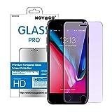 Novago Compatible avec iPhone 6, 6S,iPhone 7,iPhone 8 -Film Protection écran en Verre trempé résistant et Fin avec Effet Filtre de lumière Bleue (x1)