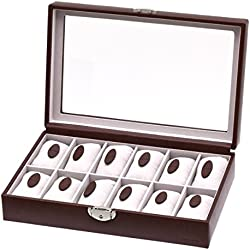 "Davidt's Unisex Watch Box For 12 Watches ""Euclide"" 367844.07 Brown"