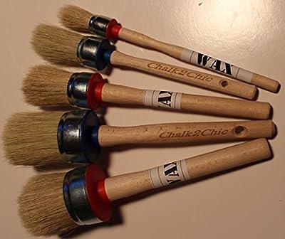 #Kit 5-5 x Kreide und Wachs, natürliche Borsten, runde Pinsel-set performance, 55 mm, 5 Größen, 50 mm, 40 mm, 30 mm, 25 mm