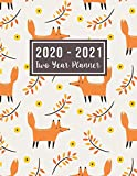 "2020-2021 Two Year Planner: 2020-2021 monthly planner full size | fox cover 24-Month Planner & Calendar. Size: 8.5"" x 11"" ( Jan 2020 - Dec 2021). Two ... Notebook (2 year monthly planner 2020-2021)"