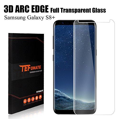 "Samsung Galaxy S8 Plus Protector de Pantalla, TEFOMATE Vidrio Templado Protector de Pantalla Completa Tempered Glass Screen Protector para Galaxy S8 Plus 6.2"" [Curvado 3D]"