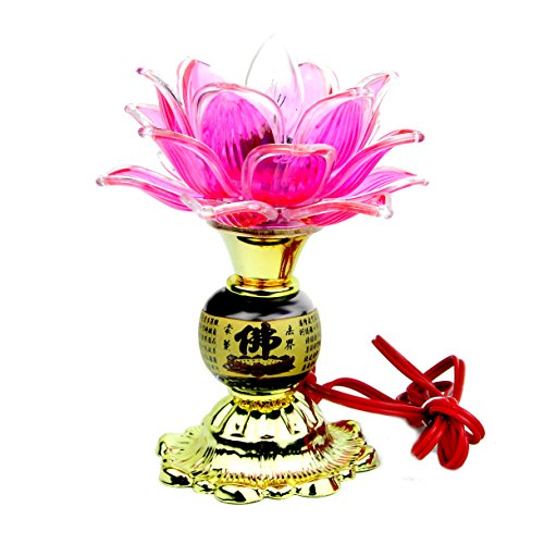 Feng Shui de Buda lámpara de loto para Buda Altar