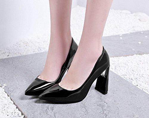 Misssasa Womens Chaussures À Talons Hauts Noir Élégant