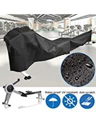 dDanke 285x51x89cm Dust-proof Rowing Machine Cover Fitness Equipment Protective Cover for Indoor or Outdoor Use