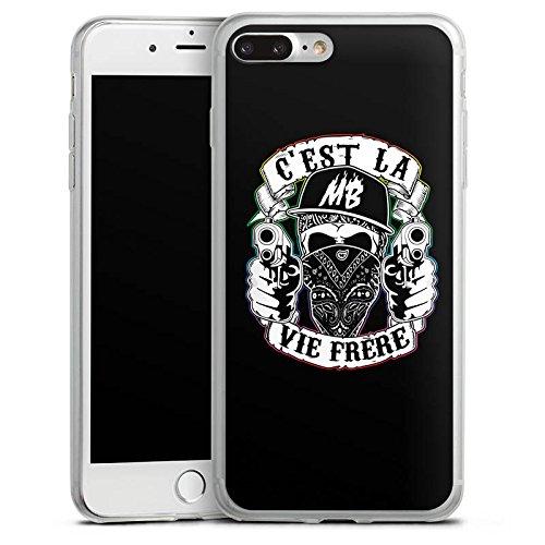 Apple iPhone 8 Plus Slim Case Silikon Hülle Schutzhülle Montanablack Fanartikel Merchandise C'EST LA VIE FRERE Silikon Slim Case transparent