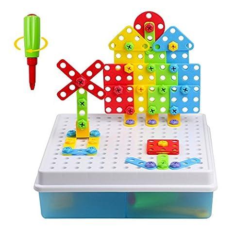 Jeu Construction Puzzle Enfant 3 ans Jouet Garçon Fille Jeux Motricite Fine