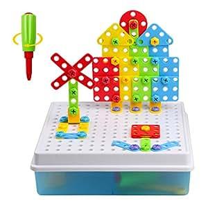 jeu construction 3d jeu assemblage blocs plastique jouet puzzle enfant fille gar on 120 pcs. Black Bedroom Furniture Sets. Home Design Ideas