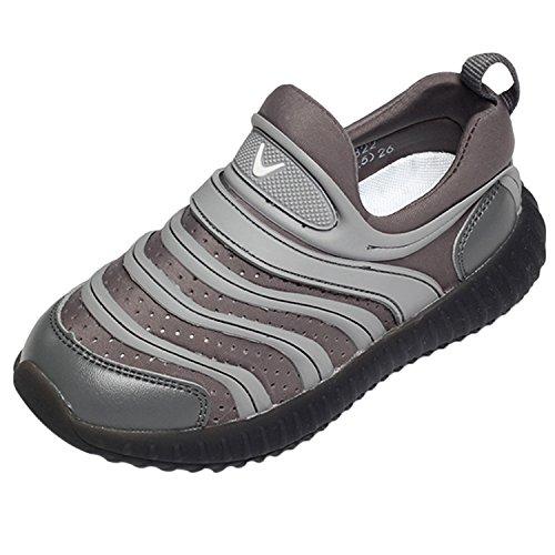 Oasap Unisex Children Fashion Slip-on Flat Sports Shoes Black