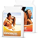 MyTan Ultimate Tanning Pack (MyTan Bronze & MyTan Boost), 220 Sun Tanning Pills, High Potency Beta Carotene Tanning Tablets, Canthaxanthin Free for a Healthy, Safe Tan