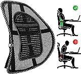 Palucart Supporto Lombare Schienale ergonomico Cuscino Pad Supporto con Fascette Regolabili per Sedile dell'auto e Poltrona da Ufficio Colore Nero Basta dolori alla Schiena Traspirante ergonomico