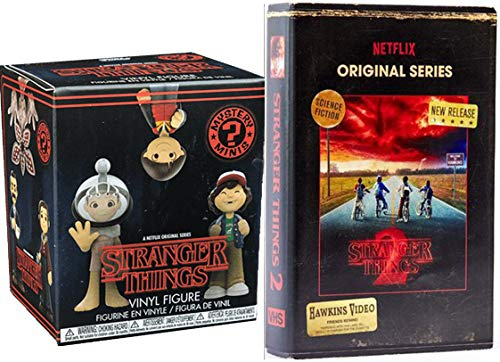 The Amazingly Stranger Things Mystery Mini Figure Exclusive VHS Set Season 2 DVD Blu-Ray 4 Disc Box Edition Special Funko Blind Box 2-pack Bundle