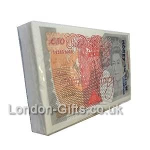 Faux billets-serviettes Motif amusant (9 x 1–Lot de 50 £)