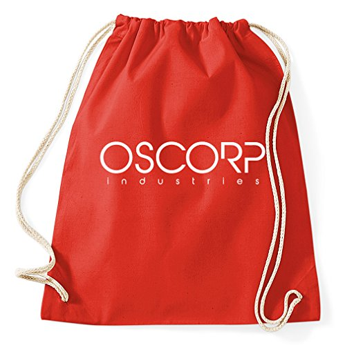 Oscorp Industries Logo Gymsack Drawstring Rucksack Sportsbag Gym Bag  Hipster Slogan quotes, red