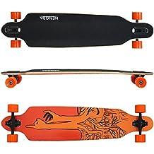 Longboard Hengda Ridge Street Cruiser Skateboard tabla de rodamientos de bolas ABEC board Longboard Orange Finger