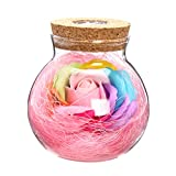 VORCOOL Pink Wunsch Flasche von Blumen mit Fernbedienung 7Farben LED Flasche-Licht Geschenk für die Muttertag Jahrestag Geburtstag Hochzeit (Pink)