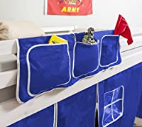Bed Tidy, Pocket / Organiser for Cabin Beds/Bunks in BLUE