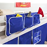 Bed Tidy, Pocket / Organiser for Cabin Beds/Bunks in BLUE