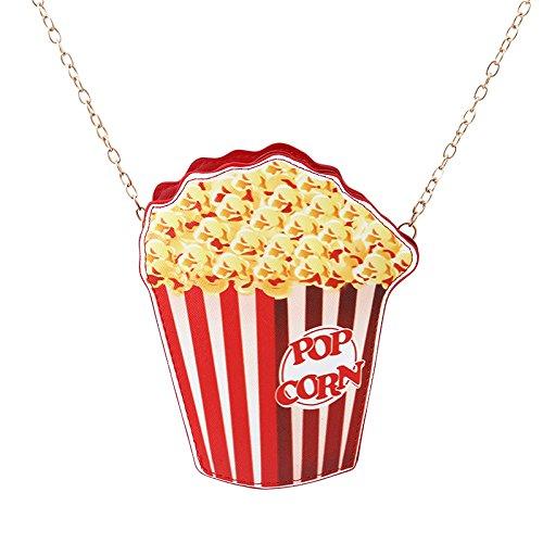 Yinew Netter Hamburger Pommes Eiscreme Popcorn Handtaschen Kuchenbeutel Schulterwölbung Kettentelefonbeutel