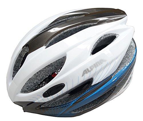 ALPINA Fahrradhelm Cybric, White/Anthracite/Cyan, 58-63 cm, 9664315