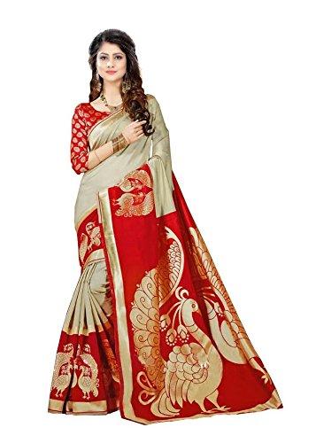 Krishna Enterprises Woman Red and Cream Color Silk Saree, saree 1000 rupees new design sarees, saree 2018, saree 300 rupees, saree 400 rupees below, saree 500, saree 600 rupees, saree 800, saree 999, saree above 2000, saree below 500, saree cover set, saree designer sarees bollywood, saree embroidered designer, saree for women latest design 2018 fancy, saree georgette saree, saree in cotton, saree, saree kalamkari, saree new collection 2018, saree party wear designer embroidered  available at amazon for Rs.389