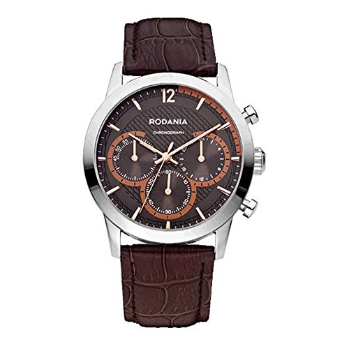 RODANIA Energy Turbo Homme Bracelet Cuir Marron Quartz Montre 26166.27