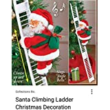 FizzyTech Santa Clause Ladder Musical Show up & Down for Christmas & New Year Gift