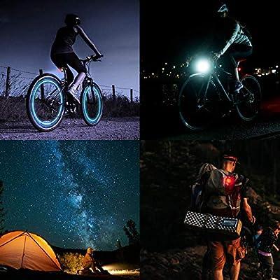 DKINs LED Fahrradlicht Set,USB Wiederaufladbare Fahrradleuchte, LED Weißlicht and Rotlicht 800mAh Wasserdicht & Staubdicht