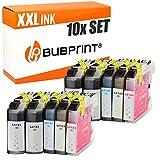 Bubprint 10 inktpatronen compatibel met Brother LC-123 LC123 voor DCP-J132W MFC-J4510DW MFC-J470DW MFC-J6520DW MFC-J6720DW MFC-J6920DW MFC-J870DW