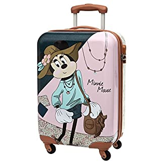 Disney Maleta, Modelo Minnie Mouse, 55 cm, 35 Litros, Varios Colores