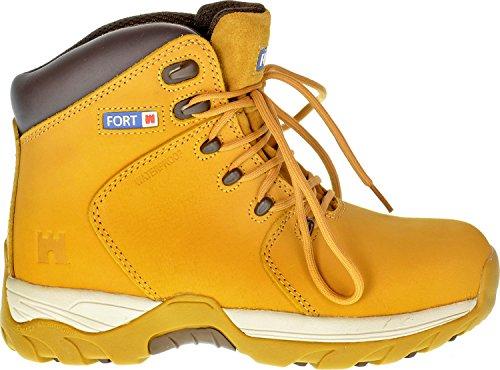 Homme Travail Bottes de sécurité Defiance imperméable Cheville Chaussures Groundwork avec embout en acier très résistant Miel