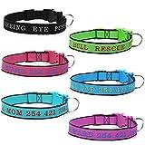 Amakunft Langlebig Hundehalsband anpassen, mit Namen, Namen und Telefonnummer bestickt Pet Halsband, personalisierbar, Hund ID Halsband für Hunde