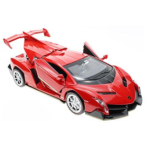 Véhicule de sport pour enfants Cool Acousto-Optic Alloyed modèle de voiture 1/32 pour les enfants ( Rouge )