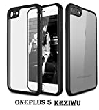 #3: AE(TM) 360 DEGREE (BLACK) KEZIWU BACK COVER WITH TRANSPARENT BACK 100% Original brand silicone protective cover shell Transparent HardBack with Soft Bumper Cushion Case FOR OnePlus 5, One Plus 5, One Plus5, 1+5 BLACK