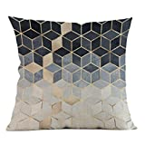 Deloito Geometrische Buntes Muster Stil Schlichtes Elegantes 45cm x 45cm Super weiches Gewebe Platz Dekoration Kissenbezug (F)