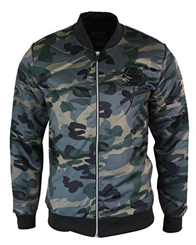e349735b68c2 Gov denim Mens Camo Camouflage MA1 Military Army Casual Slim Fit Bomber  Jacket