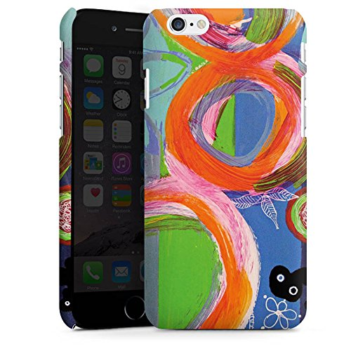 Apple iPhone X Silikon Hülle Case Schutzhülle Abstrakt Muster Kreise Premium Case matt