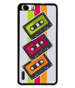 Huawei Honor 6 Back Cover Cassette Icon Design From FUSON