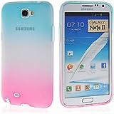 Coque samsung galaxy note 2,Dégradé de couleur TPU Silicone Housse Coque Etui Gel Case Cover Pour Samsung Galaxy Note 2 II N7100 étui de protection en silicone,#5