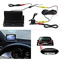 Dax TFT 5Inch LCD Monitor + Cámara de marcha atrás con una doble función de coche 16: 9alta definición cámara Monitor retrovisor coche retrovisor Monitor