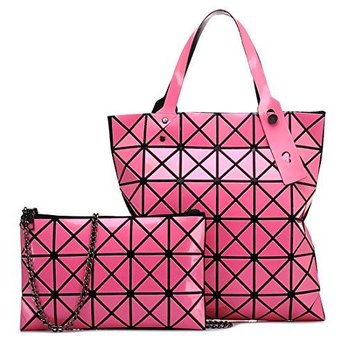HT Womens Shoulder Handbag, Borsa a mano donna Rose Red