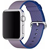 Brain Freezer Replacement Woven Nylon Watch Strap Apple IWatch Series 1, Series 2 , Series 3 38MM Blue Watch Not Including Plus Screen Guard