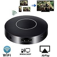 HuiHeng WiFi Display Dongle, récepteur d'affichage sans fil 1080p Full HD et AV double sortie récepteur d'affichage pour iOS iPhone iPad / Android Smartphones / Windows / Macbook